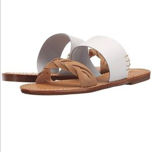 Soludos Braided Slide Sandals in White